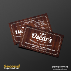 Oscar's Business Card